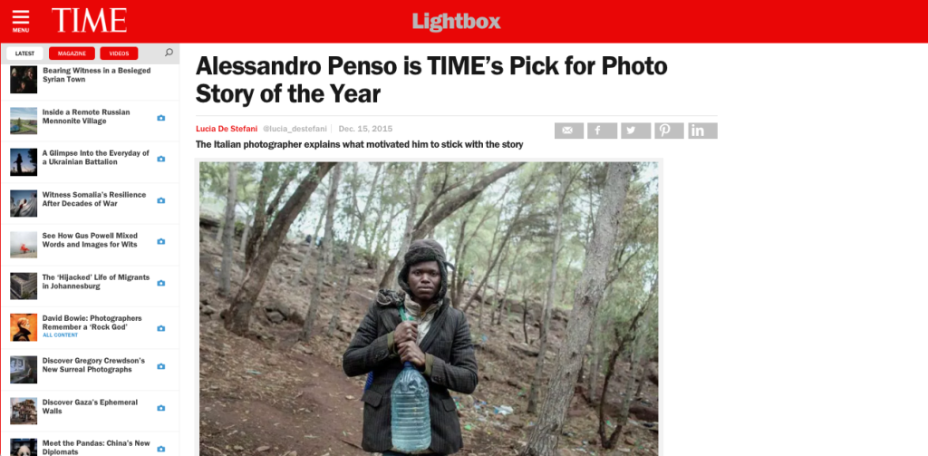 Alessandro Penso is TIME's Pick for Photo Story of the Year